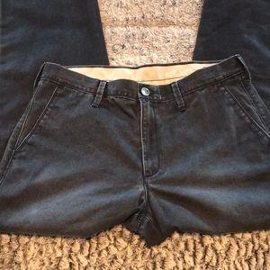 Men's distressed black Chino pant - EUC